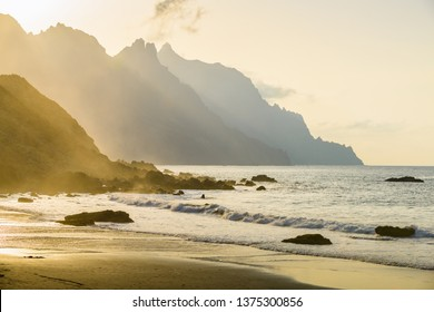 Incredible view of the coast near the village of Taganana. Tenerife. Canary Islands. Spain