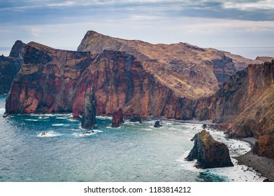 Incredible view of the sea coast. Madeira. Portugal