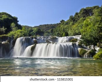 Incredible waterfalls in Krka National Park, Croatia