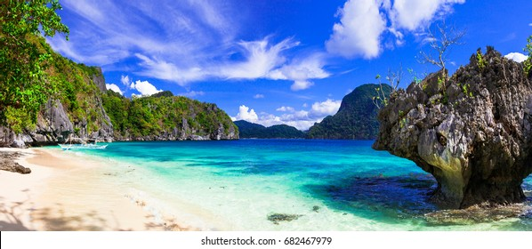 Incredible wild beauty of Philippines islands. Palawan, El Nido