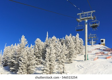 Incredible Winter blue sky in the Canadian Rockies