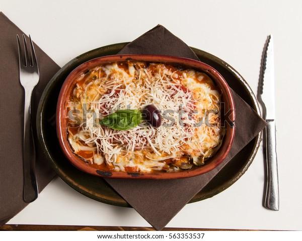 Incredibly Delicious Sausage Beef Lasagna Recipe Stock Photo