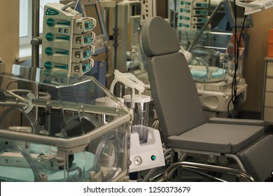 incubator for newborns of premature babies, resuscitation in perinatal medical center, modern technologies for those born with health problems, saving children's lives, medical care, happy mother