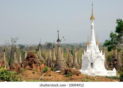 Indein Pagodas - Lake Inle Myanmar Burma