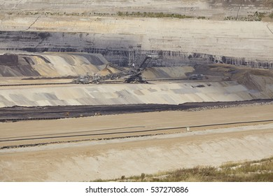 INDEN, GERMANY - SEPTEMBER, 10. Soft coal opencast mining Inden at the Rhenania brown coal field (Inden, Northrhine Westphalia, Germany) on September 10, 2016.