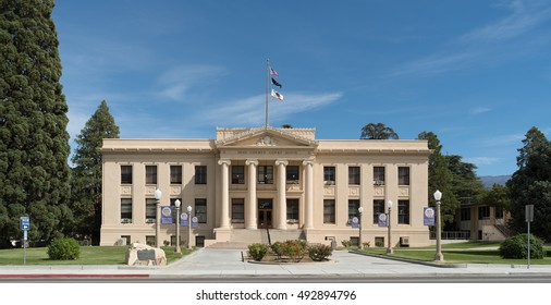 INDEPENDENCE, CA/USA - OCTOBER 3: The Inyo County Courthouse shown on October 3, 2016. This building was listed on the National Register of Historic Places in 1998.