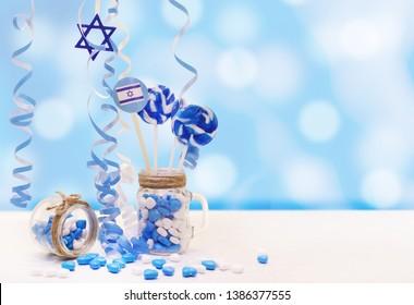 independence day israel, blue background, bar mitzvah background, jewish symbol, celebration, white & blue