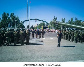 Independence Day of Ukraine on the main square of Zaporozhye, Ukraine, 24 August 2018.