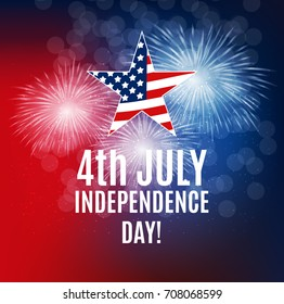 Independence Day in USA Background. Can Be Used as Banner or Poster.  Illustration