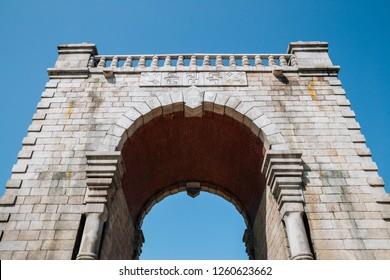 Independence gate at Seodaemun Independence park in Seoul, Korea (Translation is Dongnimmun)
