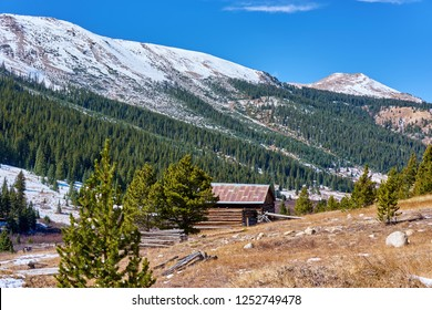 Independence Ghost Town in Colorado mountains at autumn, USA