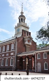 Independence Hall Bell Tower of Independence Hall in Philadelphia