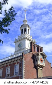 Independence Hall, originally known as Pennsylvania State House is where the Constitution and the Declaration of Independence were signed, Philadelphia, Pennsylvania, USA