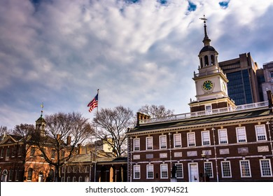 Independence Hall, in Philadelphia, Pennsylvania.