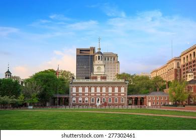 Independence Hall in Philadelphia, Pennsylvania.