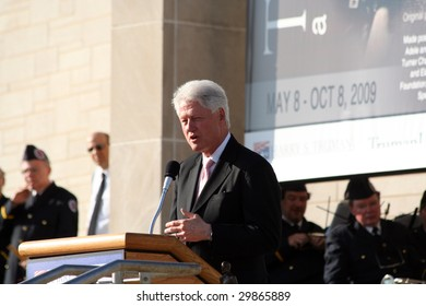 INDEPENDENCE, MO - MAY 6: Former US President Bill Clinton speaks after receiving the 2009 Harry S. Truman Award for Public Service on May 6, 2009 in Independence, MO.