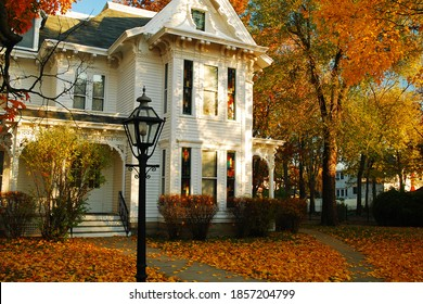 Independence, MO, USA November 2 Fall colors surround the Harry Truman house, home of the US President in Independence Missouri