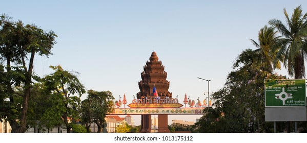 Independence Monument in downtown Phnom Penh, Cambodia