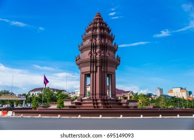 The Independence monument with  Khmer architectural style, in Phnom Penh, Cambodia capital city