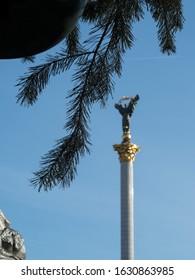 Independence Monument, the main square of Kiev near Majdan Niezależności plaz in Kiev, Ukraine - Shutterstock ID 1630863985
