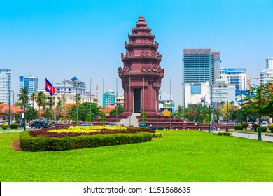 The Independence Monument or Vimean Ekareach in Phnom Penh city, capital of Cambodia