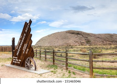 Independence Rock State Historic Site in Wyoming.