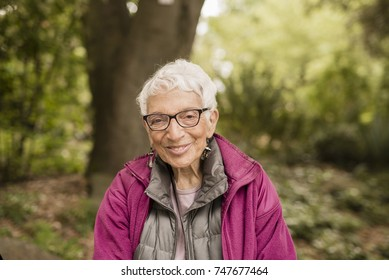 Independent Elderly Woman in the Park