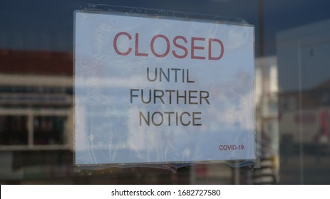 Independent shop closed until further notice due to the COVID 19 coronavirus pandemic, bars, cafes, restaurants, clubs all shut cause of this international crisis