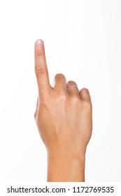index finger raised
