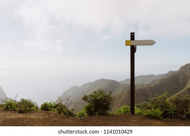 Index to right direction in the mountain