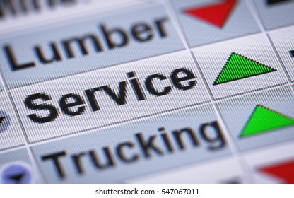 Index of Service. Up.