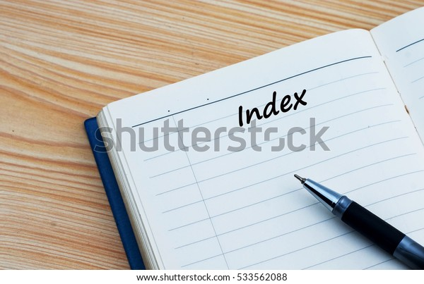 Index text written on a diary