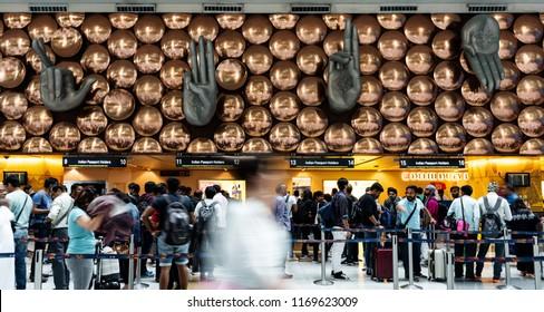 INDIA - 11 AUG - Indira Gandhi International Airport, in New Delhi, India on August 11, 2018