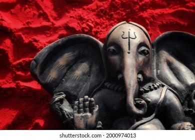 India, 25 May, 2021 : Hindu God Ganesha idol, Lord Ganesha idol.