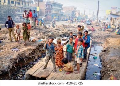 India, Bihar state, Patna, 11 december 2007, Slums  of Patna, Bihar
