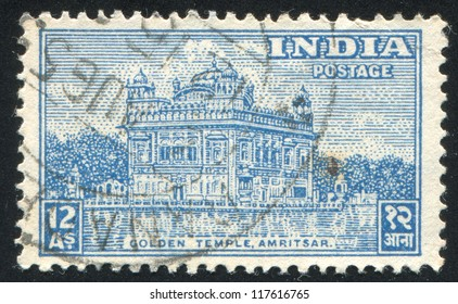INDIA - CIRCA 1949: stamp printed by India, shows Golden Temple, Amritsar, circa 1949