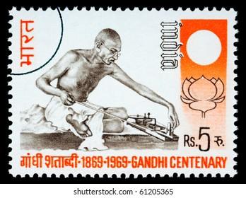 Mohandas Karamchand Gandhi Postage Stamps