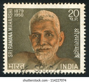 INDIA - CIRCA 1971: stamp printed by India, shows Ramana Maharshi, circa 1971