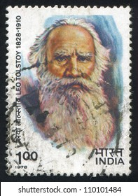 INDIA - CIRCA 1978: stamp printed by India, shows Leo Tolstoy, circa 1978