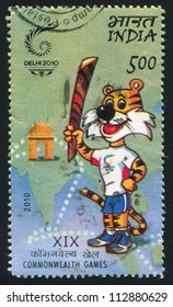 INDIA - CIRCA 2010: stamp printed by India, shows Talisman of XIX Commonwealth games, circa 2010