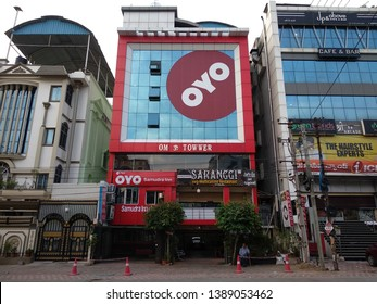 INDIA - CIRCA MAY 2019 OYO Rooms, commonly known as OYO, is a network of budget hotels in India. Headquartered in Gurgaon, it currently operates in more than 200 Indian towns, Malaysia and Nepal