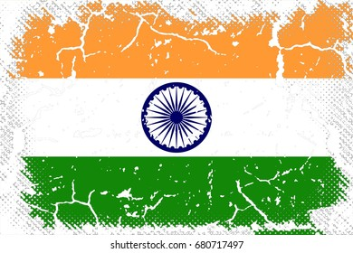 India flag grunge background. Background for design in country flag