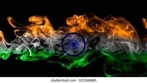 India flag smoke