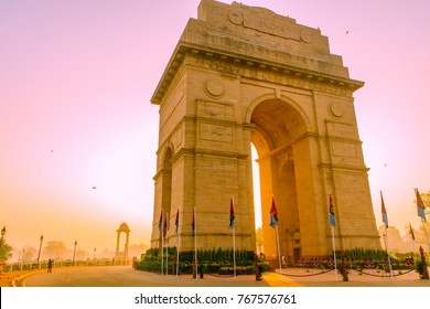 India Gate or All India War Memorial at New Delhi is a triumphal arch architectural style memorial designed by Sir Edwin Lutyens to 82,000 soldiers of the Indian Army who died in the First World War.