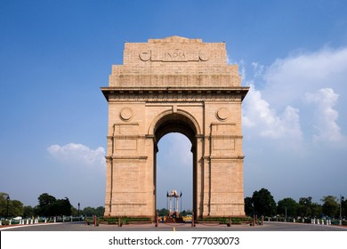 The India Gate (All India War Memorial), is a war memorial located astride the Rajpath, in New Delhi, India.  A memorial to the 82,000 soldiers of the Indian Army who died  during the First World War.