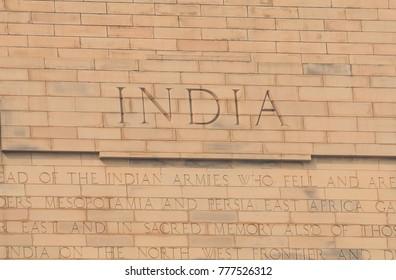 India Gate historical architecture New Delhi India