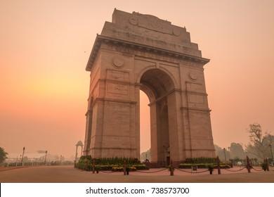 The India Gate in New Delhi, India