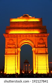 India Gate in New Delhi, India (commemoration of the 90,000 soldiers of the British Indian Army who lost their lives in British Indian Empire)