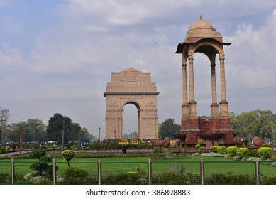 India Gate, New Delhi, India. It is a memorial to 82,000 soldiers of the undivided British Indian Army who died in the period 1914-1921