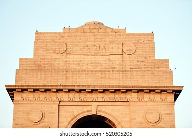 India Gate at New Delhi. India Gate is a war memorial in New Delhi.